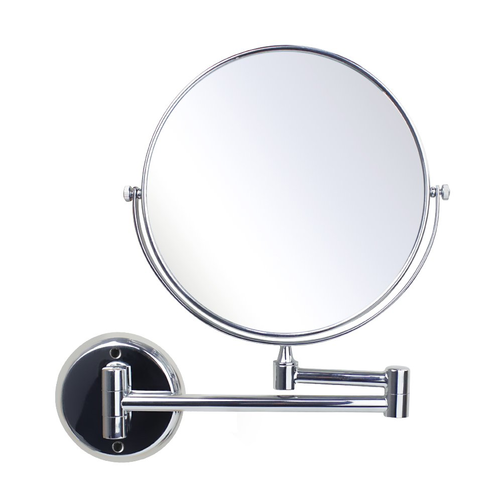 Ablevel 8-Inch Two-Sided Swivel Wall Mount Mirror with 3x Magnification, 11.5-Inch Extension