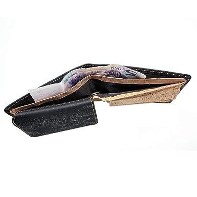Amazon.com: Boshiho RFID – Cartera de corcho con bloqueo de ...