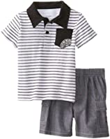 Calvin Klein Baby Boys' Stripes Polo Top with Short