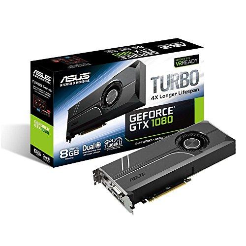 ASUS GeForce GTX 1080 8GB Turbo Graphic Card TURBO-GTX1080-8G (Renewed)