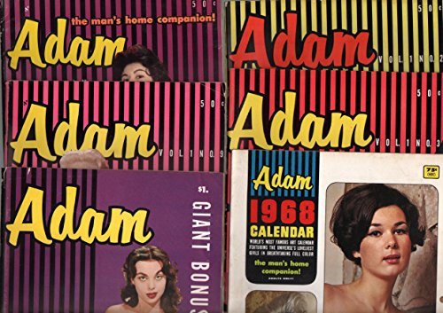 Adam-Vintage Man's Magazine Lot of 6 1956-burlesque-Betty Page-cheesecake-VG