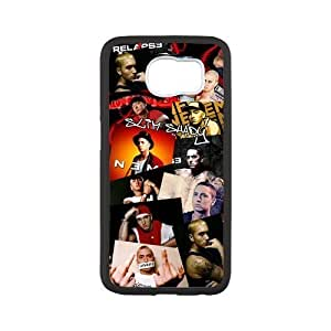 Custom Eminem Collage Design PC and TPU Phone Case Cover Laser Technology for SamSung Galaxy S6