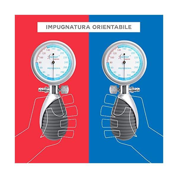 AIESI® Esfigmomanometro Manual Profesional Aneroide Tensiómetro palmar con brazalete de nylon para adultos DOCTOR… 6