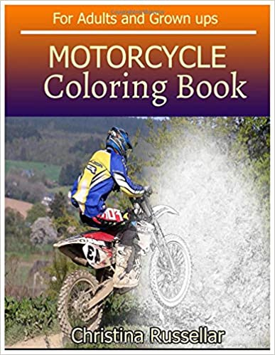 Amazon.com: MOTORCYCLE Coloring Book For Adults and Grown ups ...