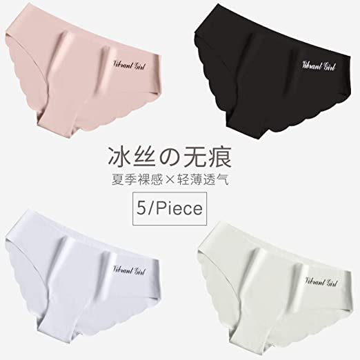 balalSY Bragas de algodón sin Marcas para Mujer, Cintura Media, Pantalones japoneses, Pantalones Finos de Verano de Seda de Hielo de una Pieza-L_Grupo L: Amazon.es: Hogar