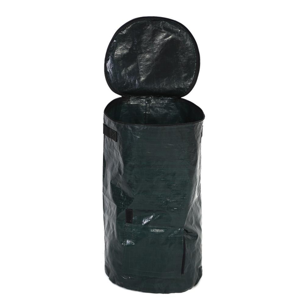 2 Sizes PE Compost Bag Organic Waste Bag for Kitchen Garden Yard Asixx Garden Waste Bag Waterproof 35 x 60cm Heat Resistant Anti-Corrosive Made of Environmental PE Cloth