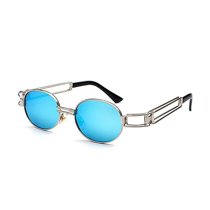 Brille Runde Gläser Sonnenbrille Klare Huicai Metallrahmen Retro kuOwPXZiTl
