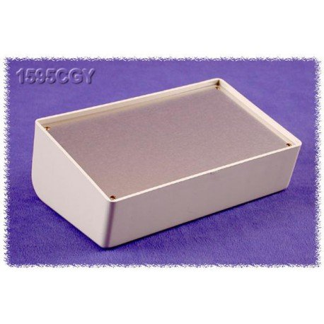 HAMMOND MANUFACTURING 1595CGY GRAY PLASTIC ENCLOSURE WITH ALUMINUM LID