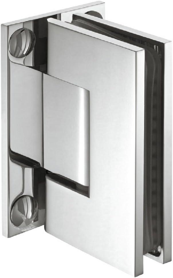 Glast/ürband Messing chrom poliert Duschkabinen-Scharnier f/ür Wand zu Glas Verbindung Glast/ürbeschlag Messing Bad-T/ürscharnier f/ür Glast/üren und Duschen Duscht/ürband chrom poliert 1 St/ück