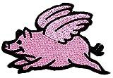 Nipitshop Patches Cute Pig Flying Animal Retro
