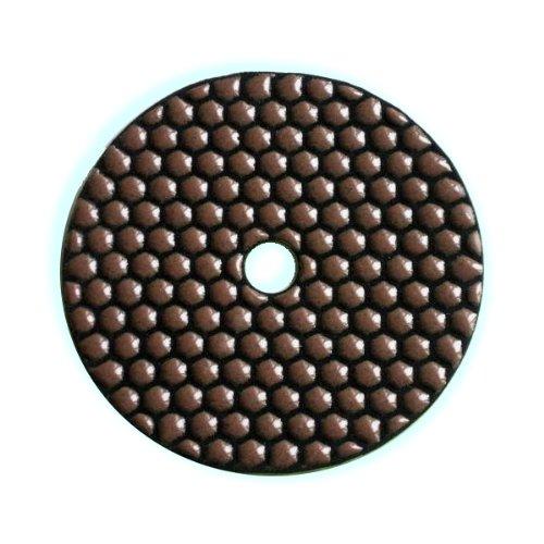 10 pcs Complete Set Premium Quality 5 inch DRY Diamond Polishing Pads,2 mm Thick by Kent Blades (Image #1)