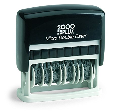 2000 Plus Micro Double Dater Black Ink