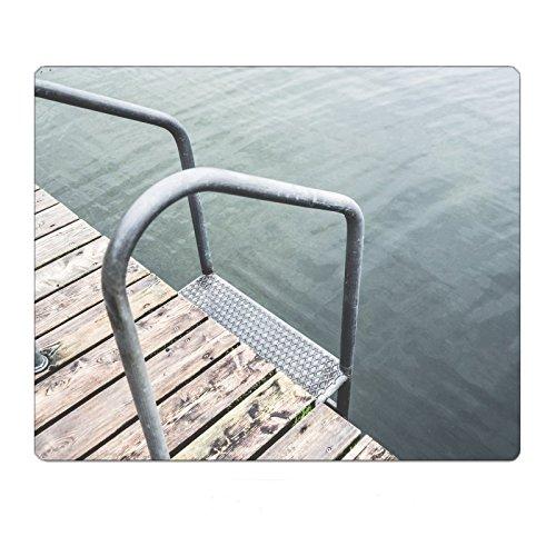 Swimming Pontoon with Ladder At Lake Mousepad Gaming Mouse Pad 9.8 11.8 (Pontoon Swimming Ladder)
