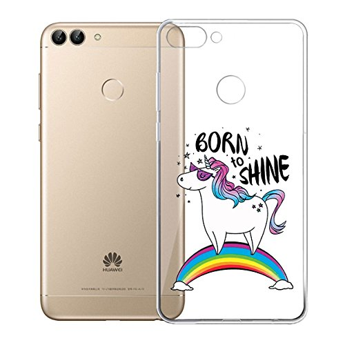Funda para Huawei P Smart / Enjoy 7S , IJIA Transparente Adorable Bebé De Dibujos Animados TPU Silicona Suave Cover Tapa Caso Parachoques Carcasa Cubierta para Huawei P Smart / Enjoy 7S (5.65) (WM122 WM110