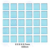 Quanmin 30pcs/1 Lot 8mm×8mm×0.7mm 650nm IR-Cut Blocking Filter Square Optical Multi-coating Color Low-Pass IR Filters For Camera Sensor