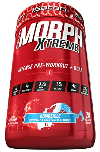 iSatori Morph Xtreme Intense Pre Workout Formula With BCAA For Maximum Gains - Increase Energy, Endurance And Muscle Growth - Fast Recovery - Bombsicle - 20 Servings
