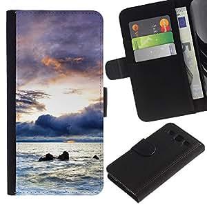 All Phone Most Case / Oferta Especial Cáscara Funda de cuero Monedero Cubierta de proteccion Caso / Wallet Case for Samsung Galaxy S3 III I9300 // A brighter future