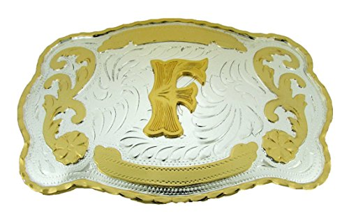 Huge Western Rodeo Initial F Belt Buckle Cowboy