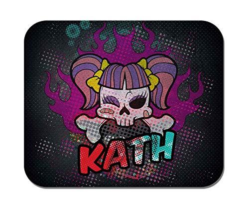 Makoroni - Kath Female Name - Non-Slip Rubber Mousepad, Gaming Office Mousepad