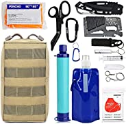 Molle Trauma First Aid Pouch - EDC IFAK Tactical Med Kit, Wilderness Survival Bug Out Supplies Bag, EMT Safety