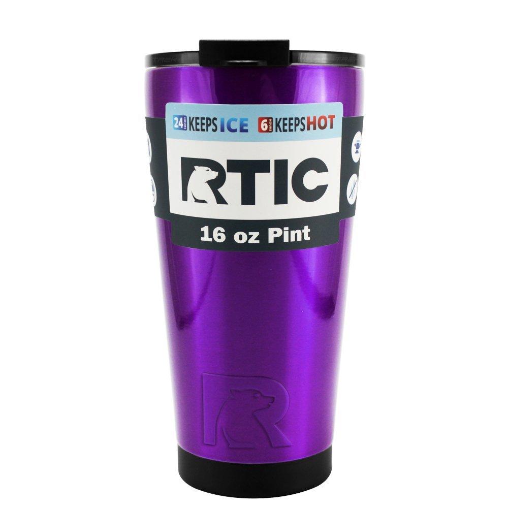 RTIC ステンレススチール製タンブラーカップ 16oz RTIC16-tpr B0773ZB6L3 16oz|RTIC Purple Trans RTIC Purple Trans 16oz