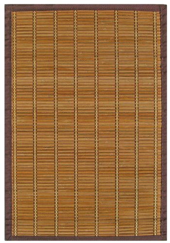 Anji Mountain AMB0020-0058 Pearl River Rectangular Area Rug, Light Brown, 5 x 8-Feet (River Pearl Bamboo)