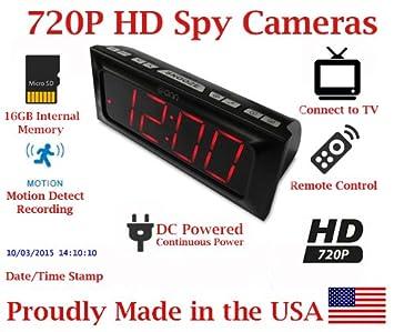 secureguard HD 720P ONN gran pantalla Radio reloj despertador espía cámara oculta niñera cámara espía gadget: Amazon.es: Hogar