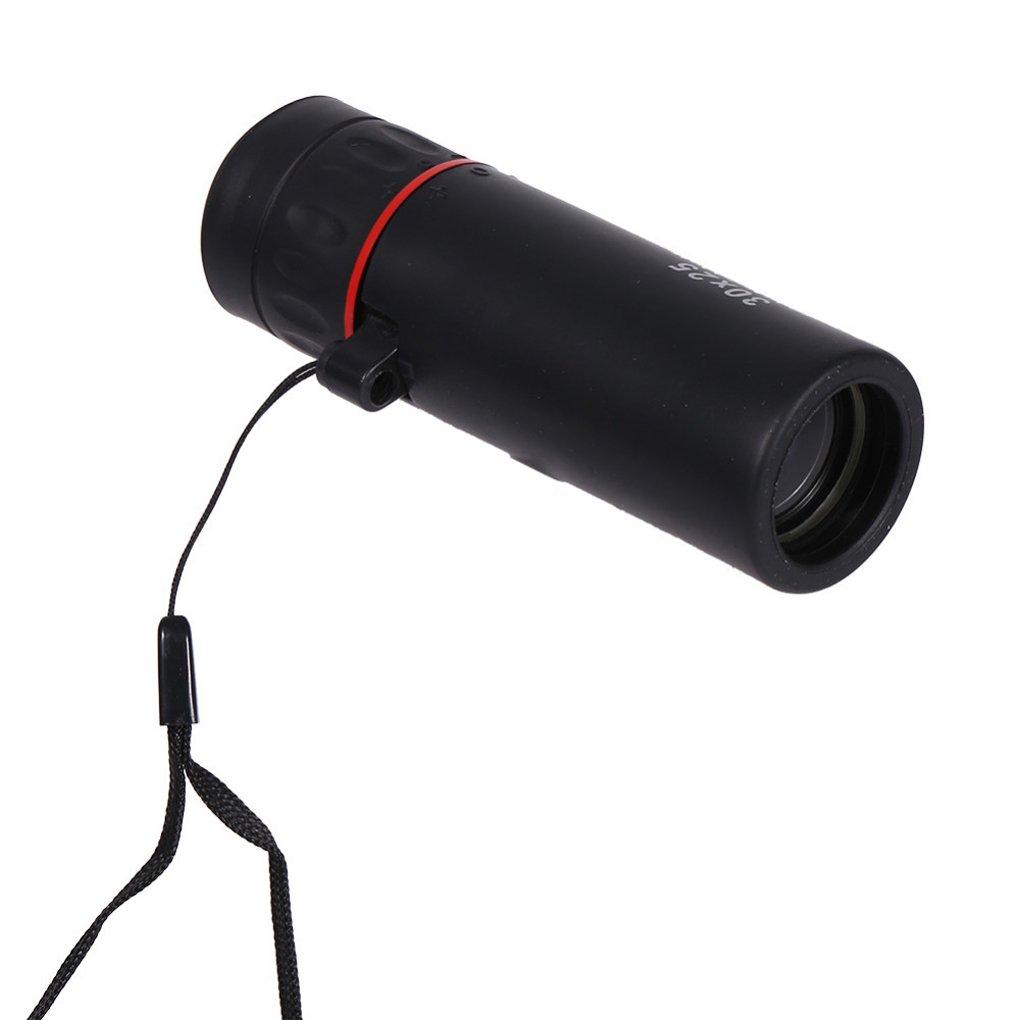Level Monocular /óptico Mini 30x25 HD Baja visi/ón Nocturna port/átil /ámbito de Foco del telescopio del zumbido 10X para el Recorrido de la Caza