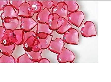 Translucent Acrylic Hearts for Vase Fillers Table Scatter Decoration, 100 (Heart Shaped Flower Vase)