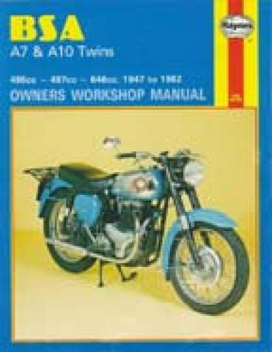 H121 Haynes BSA A7 A10 Twins 1947-1962 Motorcycle Repair Manual