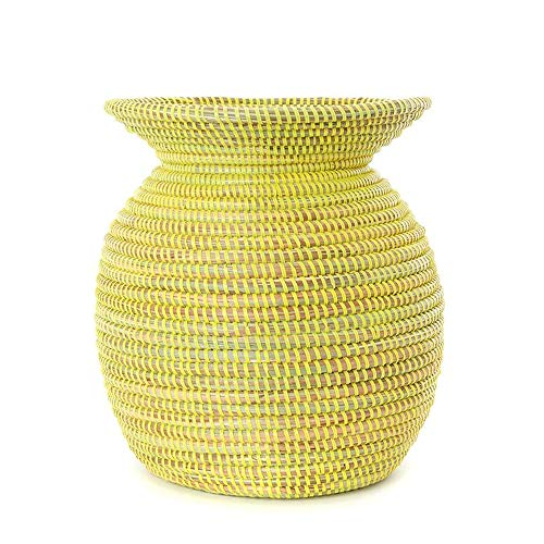 (Swahili Modern Lemon Odds 'N Ends Handmade Senegalese Basket)