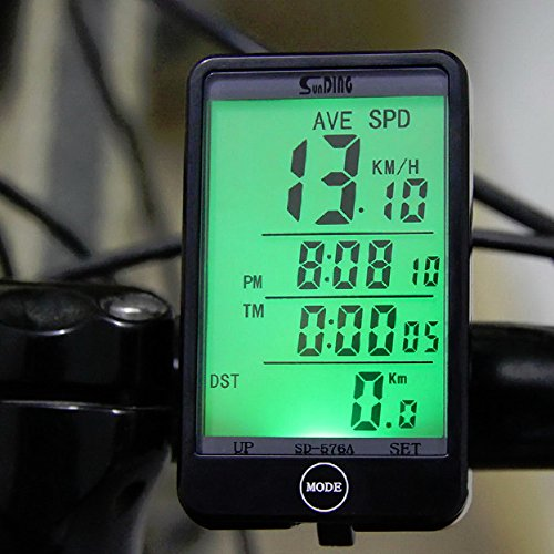 Lexiesxue SD - 576A Waterproof Auto Bike Computer Light Mode Touch Wired Bicycle Computer Cycling Speedometer with LCD Backlight by Lexiesxue