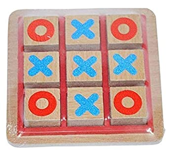 Golden Feather Wooden Tic Tac Toe (Medium) | Best Quality for Kids