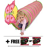 Bella Butterfly Crawl Tunnel: Sunny Patch Outdoor Play Series + FREE Melissa & Doug Scratch Art Mini-Pad Bundle