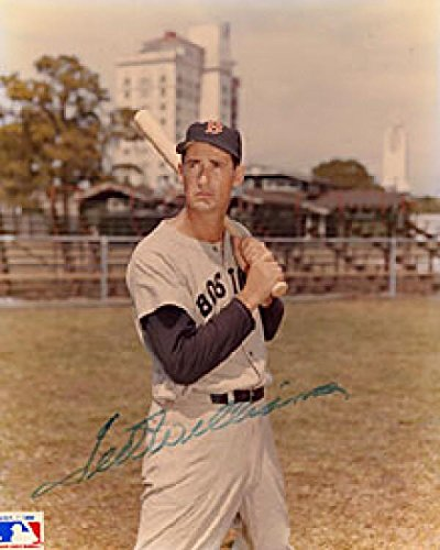 Ted Williams Autographed Boston Red Sox Baseball 8x10 Photo - Autographed MLB Photos