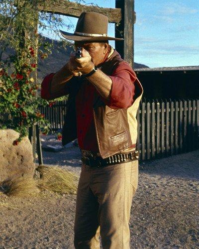El Dorado John Wayne aiming rifle right at you dramatic image 8x10 Promotional Photog