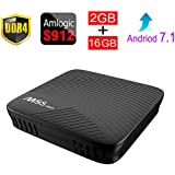 ESHOWEE M8S PRO Android 7.1 TV Box Amlogic S912 DDR4 2GB 16GB BT4.1 2.4/5 Dual-Band WiFi 4K UHD