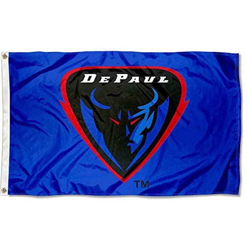 College Flags and Banners Co. DePaul Blue Demons Flag Large 3x5