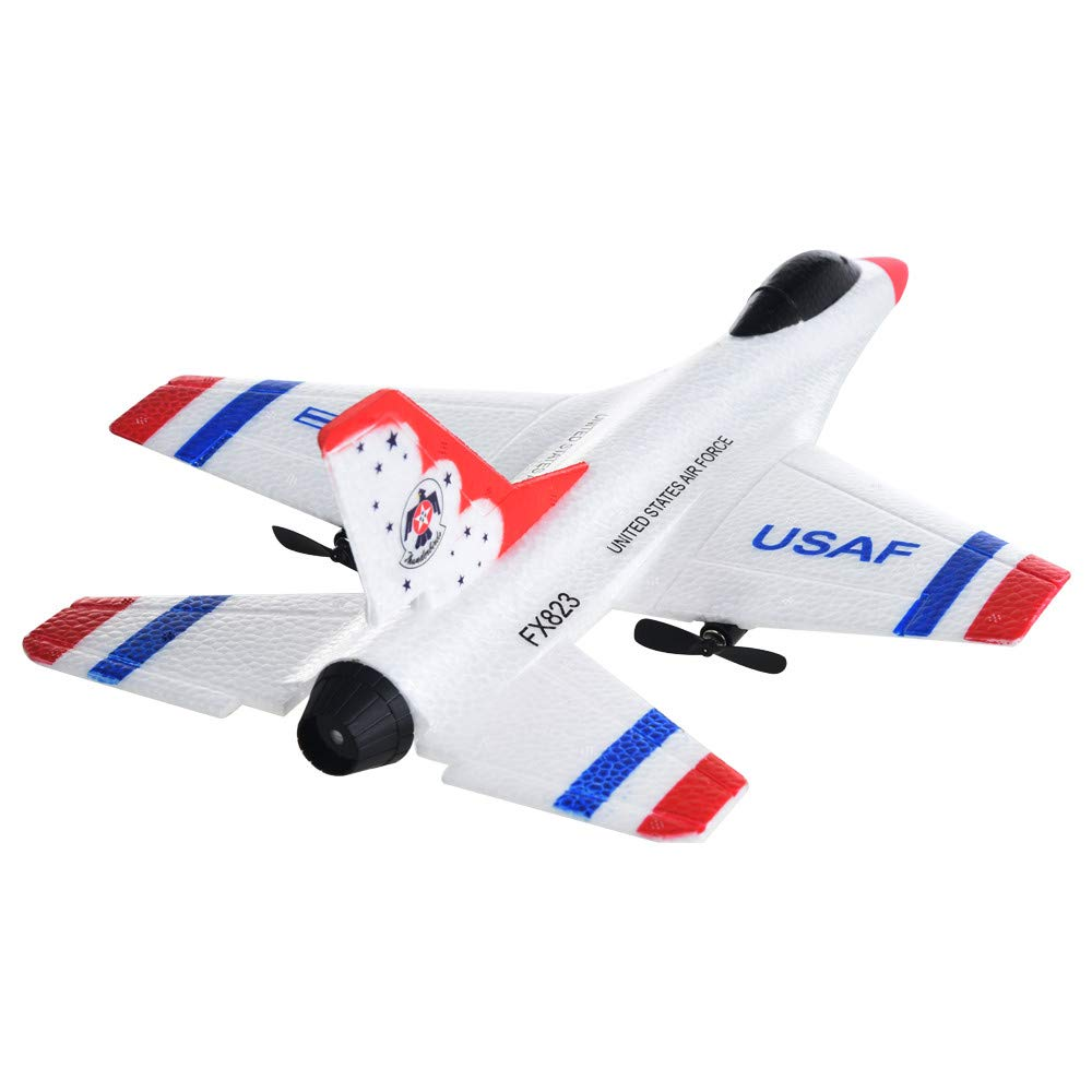 FX-823 RC Airplane Flying Glider Plane Remote Control Helicopter Birthday Party Favor Plane 2.4G 2CH-Outdoor Sports Toy-EPP Foam by Sipring