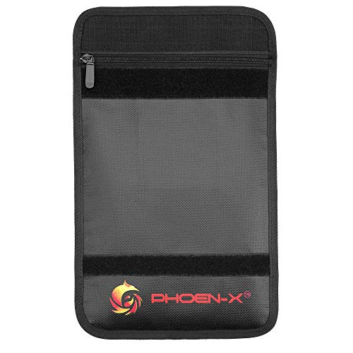 Fireproof Documents Bag - Water and Fireproof Safe Pouch - Fire Safety Storage as A4 Organizer for Documents, Money or Jewelry and with a Passport Card Holder-Zipper Bag Safe for Documents The PhoenX