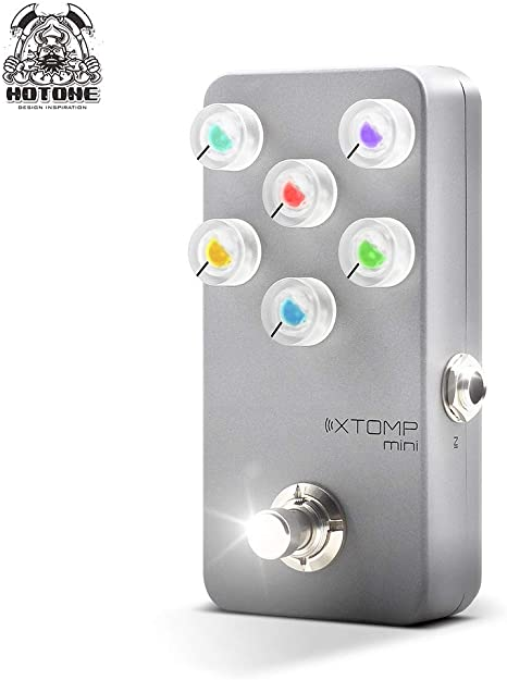Hotone XTOMP Mini Multi Efectos Pedal Bluetooth Modelado para Guitarra Bass Teclado Sintetizador: Amazon.es: Instrumentos musicales