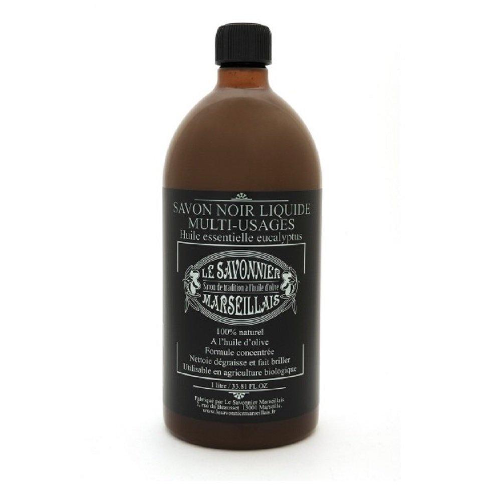 Echte schwarze Seife, flüssig, 1 l, vielseitig verwendbar, 100 % Made in France flüssig Le Savonnier Marseillais