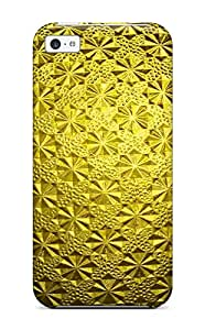 Tpu Matthew Garcia Shockproof Scratcheproof Gold Hard Case Cover For Iphone 5c