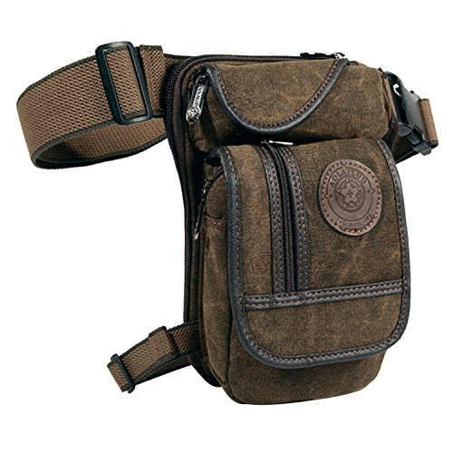 (Egoodbest Canvas Tactical Military Waist Pack Pouch Outdoor Multi-pocket Thigh Bag)