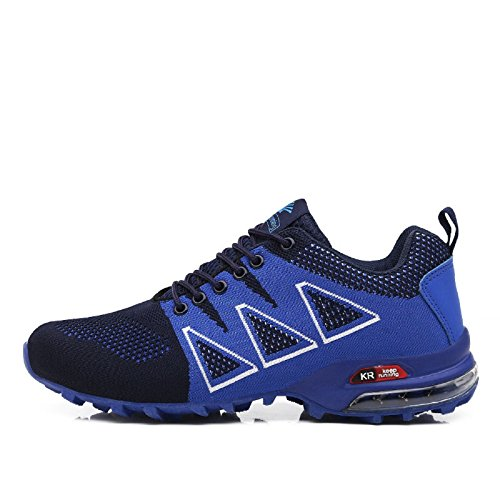 tqgold Scarpe da Ginnastica Uomo Running Sneakers Corsa Sportive Fitness Interior all'Aperto Blu-1