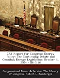 Crs Report for Congress, Robert L. Bamberger, 1293022594