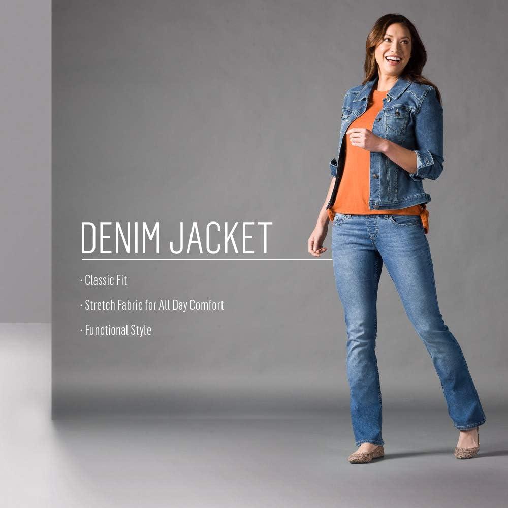 Weathered Medium Riders by Lee Indigo Womens Stretch Denim Jacket