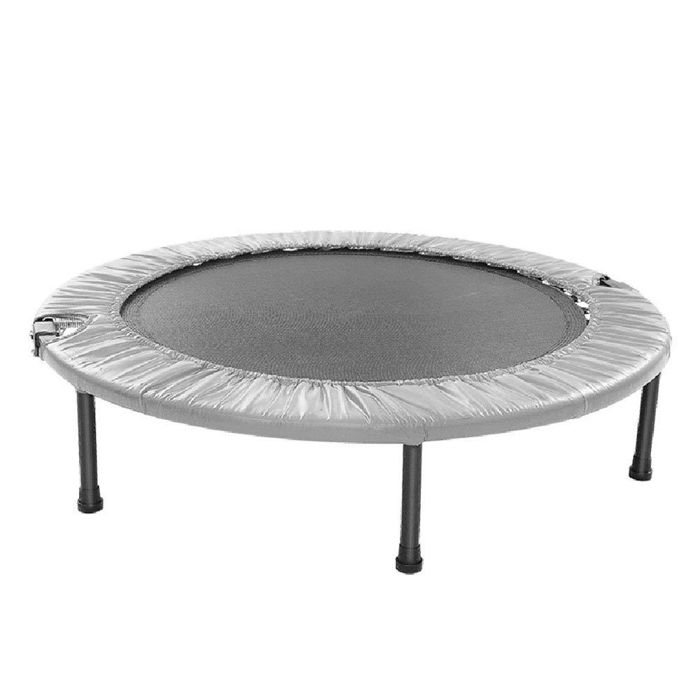 室内用トランポリン 子供または大人のためのミニラウンドトランポリンFoldable 40インチ屋内、ホームカーディオトレーナージャンプエクササイズフィットネスワークアウトトレーナー   B07L3D6GPL