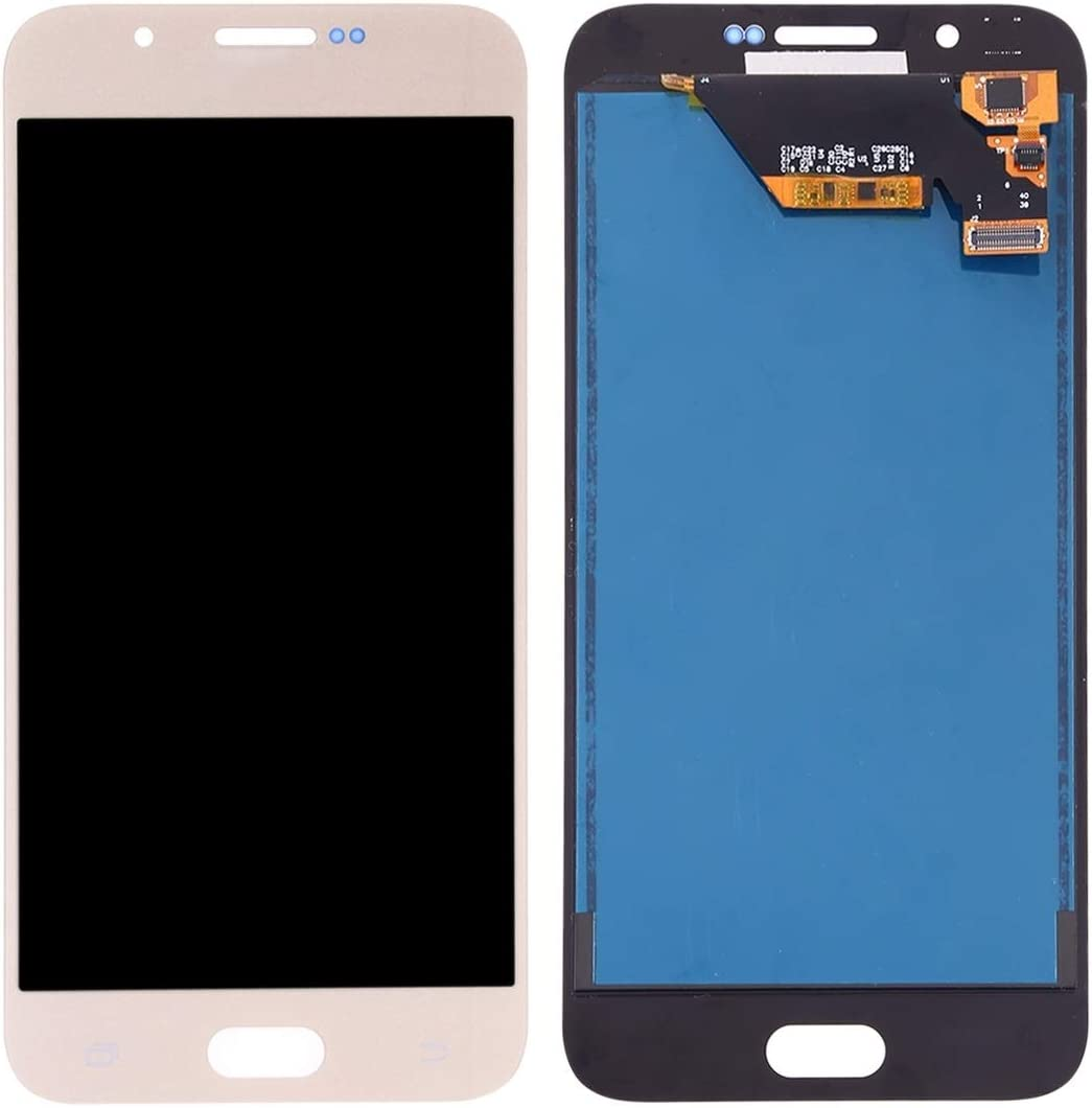 2015 LCD Screen Mobile Phone and Digitizer Full Assembly TFT Material Color : Black Black for Galaxy A8