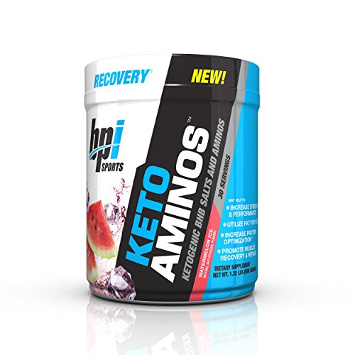 BPI Sports Keto Aminos Ketogenic BHB Salts and Aminos, Watermelon Ice, 30 Servings by BPI Sports